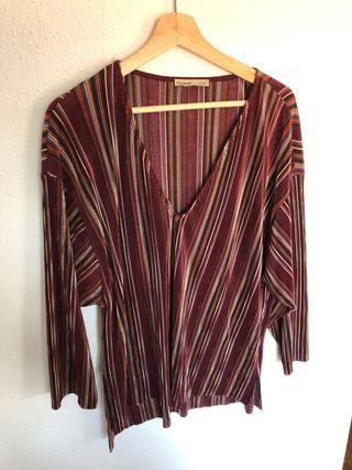 Camisa/Blusa rayas colores plisado