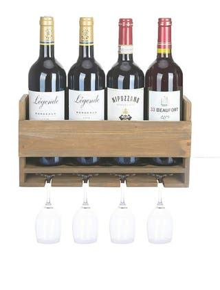 Estante de Botellas de Vino en Madera