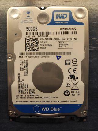 Disco duro HDD WD blue 500Gb 2.5