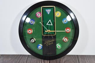 Reloj de pared decoración de billar coleccionista