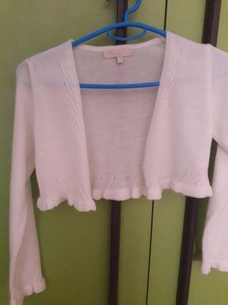 chaqueta de comunión y vestido de zara