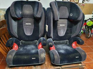 vendo 2 sillas para niños para el coche