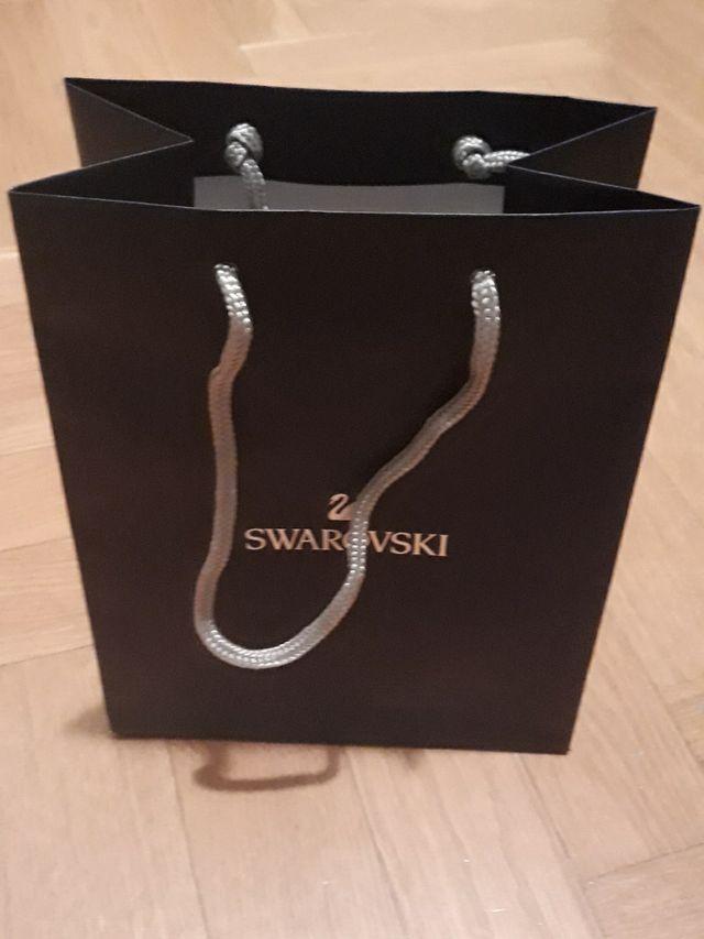 Colgante bañado oro 24quilates+cristales Swarovski