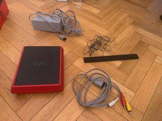 Consola Wii mini roja
