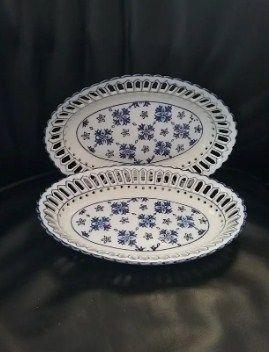 Lote precioso platitos y bandejas porcelana