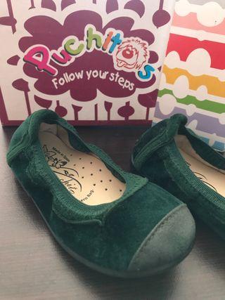 Bailarina verde botella terciopelo n23