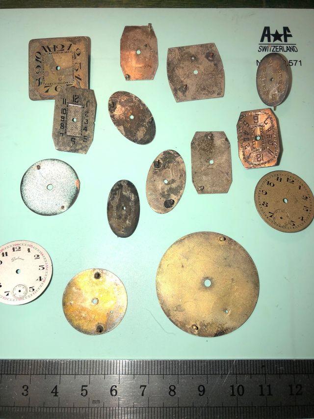Esfera reloj pulsera antigua
