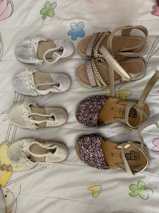 Lote sandalias niña número 27