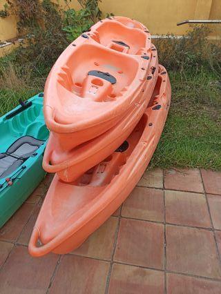 Kayak doble piragua 2 plazas