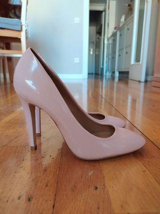 Zapatos tacón rosa