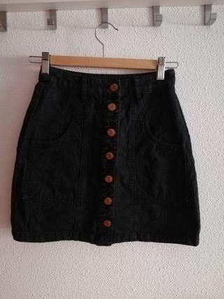 Falda negra vaquera