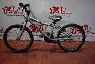 Bicicleta infantil AB bike 20 pulgadas plateada