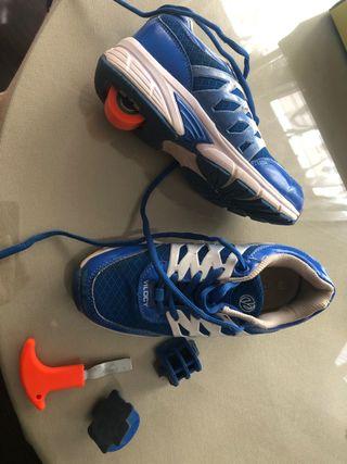 Zapatillas con rueda nº33