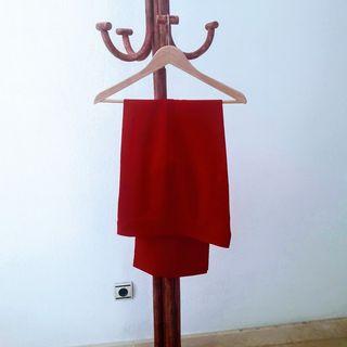 Pantalón mujer color rojo