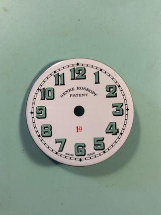 Esfera de reloj bolsillo roskopf