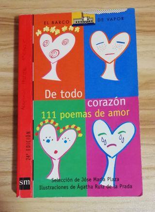 De todo corazón 111 poemas de amor