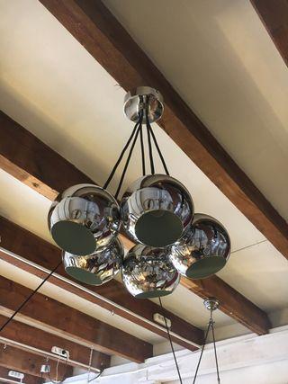 Lámpara de techo cromada