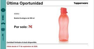 tupperware oferta botella de agua