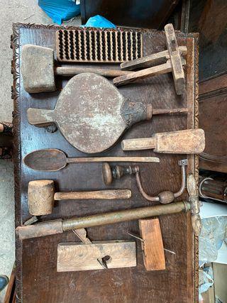 Herramientas antiguas de carpintería