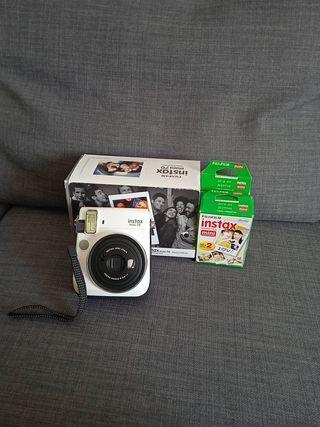 Cámara instax mini70 + películas fotográficas