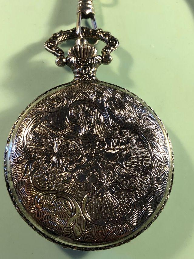 Reloj de bolsillo leontina calendario fase lunar