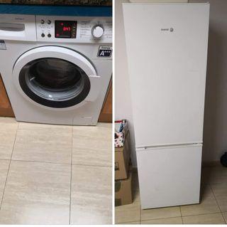 nevera y lavadora