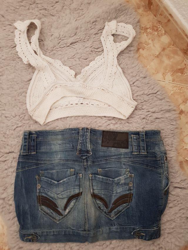 Falda jeans más top