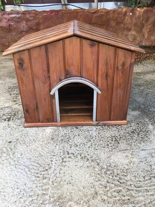 Caseta de madera para perro pequeño antes pug