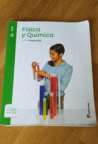 Libro Física y Química 4° Eso. Editorial Santillan