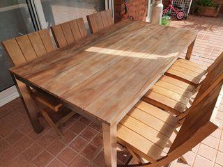 Conjunto de mesa y 6 sillas de jardín en Teka.