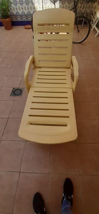 conjunto.2 sillas playa y tumbona