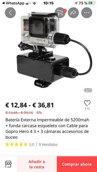 Carcasa + Batería de 5200 mah sumergible kayak