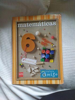 libro de texto: MATEMÁTICAS 6 PRIMARIA