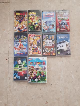 Lote cajas vacias PSP y Wii