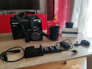 Cámara Sony A7 Rii + Sony 50mm 1.8 + Sigma Mc-11