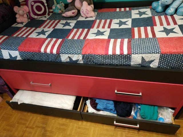 Cama Nido doble + colchón