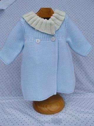 abrigo punto bebé Foque. Talla 3 meses