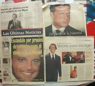 Reportajes de Periódicos de Luis Miguel