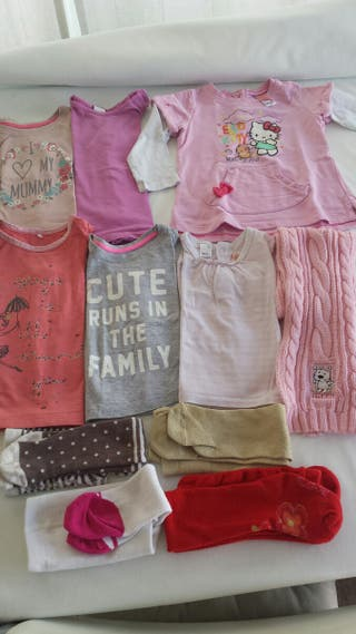 lote ropa niña 9-12meses otoño-invierno