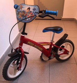 Bicicleta Infantil Rueda 12' Patrulla Canina
