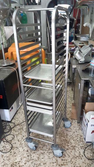 carro bandejero de acero inox con bandejas 1/1 (32