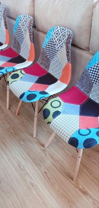 Sillas patchwork. Estilo Nordico