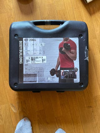 Kit maletín mancuernas 20kg