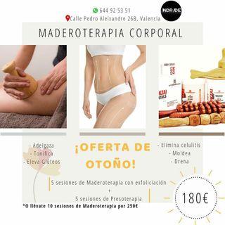 Maderoterapia + Presoterapia