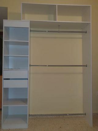 Organizador de armario extensible para dormitorio