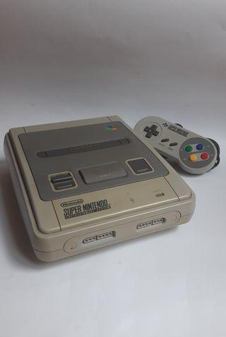 Super Nintendo + Mando Snes