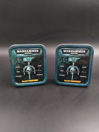 2 Cajas dados Warhammer 40000 (vacías)