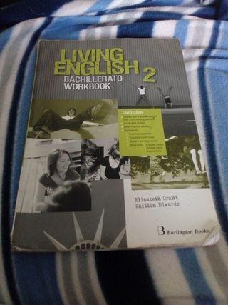libro inglés living english 2 bachillerato