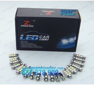 KIT 21 BOMBILLAS LED INTERIOR MERCEDES-BENZ W204 C
