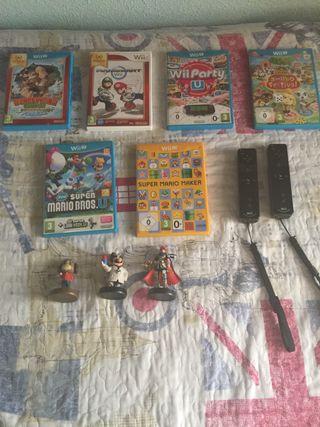 Pack de 5 juegos de Wii U + 3 amiibos (50,20,30€)